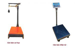 Sự khác nhau giữa cân cơ và cân bàn điện tử